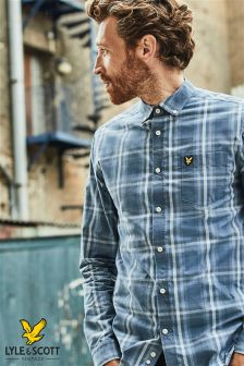 Lyle & Scott Blue Tartan Check Shirt