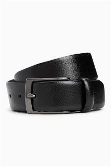 Pebble Effect Leather Belt