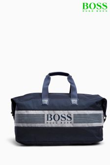 Boss Green Navy Pixel Weekend Holdall