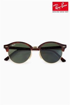 Ray-Ban® Clubmaster Tortoiseshell Sunglasses