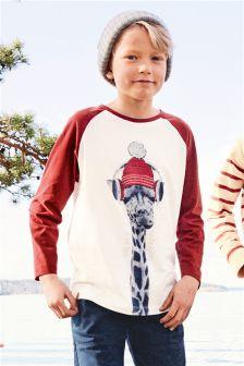 Giraffe Raglan T-Shirt (3-16yrs)