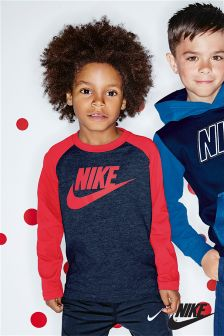 Nike Red/Navy Futura Raglan T-Shirt