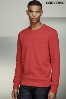 Converse Red Embossed Crew