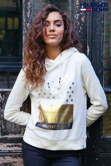 Hilfiger Denim Cream Graphic Hoody