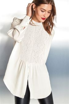 Lace Bib Blouse