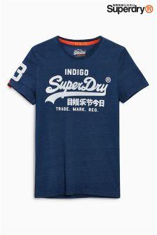 Superdry Navy Script Logo T-Shirt