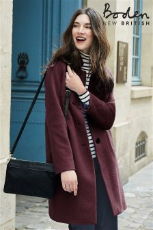Boden Burgundy Jennie Coat