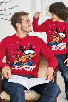 Light-Up Christmas Zoom Jumper (3-16yrs)