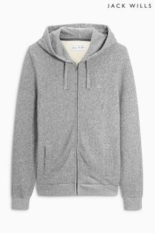 Jack Wills Pinebrook Grey Zip Through Hoody