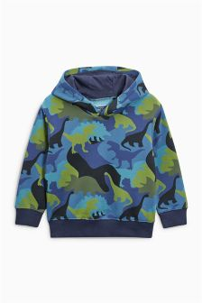 Dino Camo All Over Print Hoody (3mths-6yrs)
