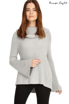 Phase Eight Grey Cateline Cowl Swing Knit Jumper