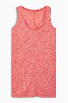 Longline Linen Mix Vest