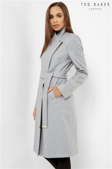 Ted Baker Grey Long Wrap Coat