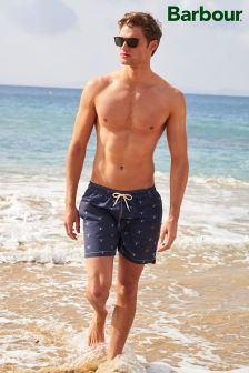 Barbour® Navy Beacon Print Swim Short