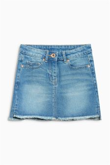 Stepped Hem Denim Skirt (3-16yrs)