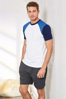 Colourblock Raglan Jersey Short Set