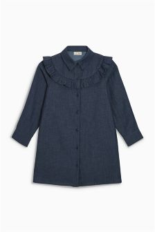 Ruffle Shirt Dress (3-16yrs)