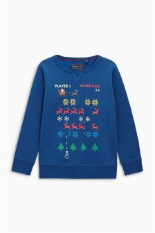 Long Sleeve Reindeer Christmas Top (3-16yrs)