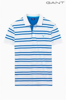 Gant White/Blue Stripe Polo