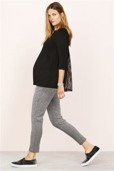 Maternity Herringbone Cigarette Pants