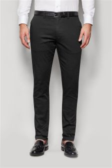 Smart Belted Chino Trousers
