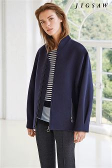 Jigsaw Navy Lux Wool Bomber