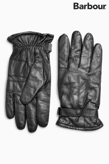 Barbour® Black Burnished Leather Thinsulate™ Gloves