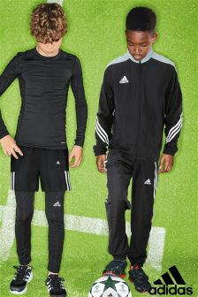 adidas Black Performance Tracksuit