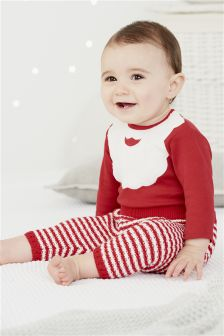 Long Sleeve Santa Beard Bodysuit (0mths-2yrs)
