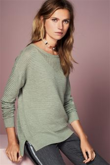Ripple Boat Neck Sweater