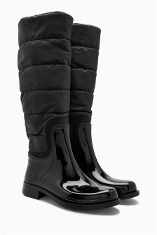 Padded Long Wellington Boots