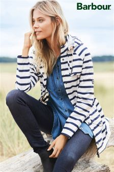 Barbour® Navy/White Stripe Trevose Jacket