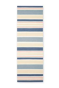 Pink Cotton Stripe Runner