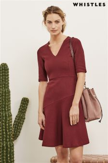 Whistles Red Felicity Dress