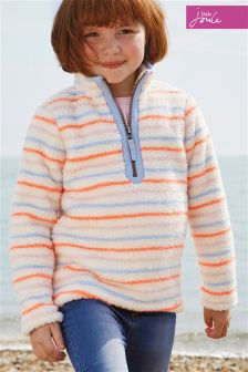 Joules Multi Stripe Merridie Half Zip Fleece