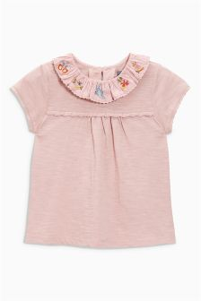 Embroidered Neck Blouse (3mths-6yrs)