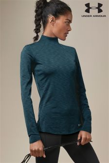 Under Armour Teal Coldgear® Mock Top