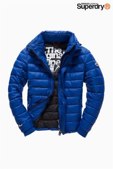Superdry Blue Fuji Triple Zip Through Jacket