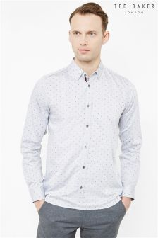 Ted Baker Blue Polka Dot Shirt