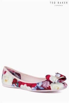 Ted Baker Floral Blushing Bouquet Textile Ballerina Pump