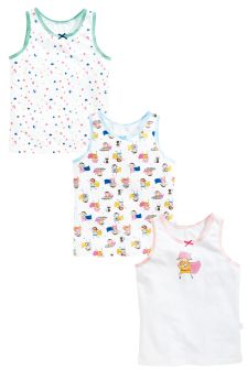 Supergirl Vests Three Pack (1.5-12yrs)