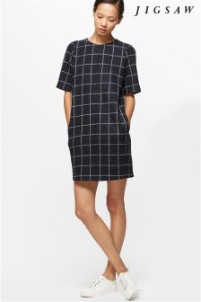 Jigsaw Window Pane Check Tunic