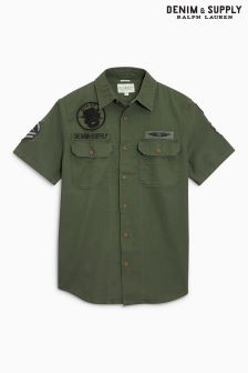 Ralph Lauren Denim & Supply Khaki Short Sleeve Shirt
