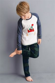 Elf Check Pyjamas (3-16yrs)