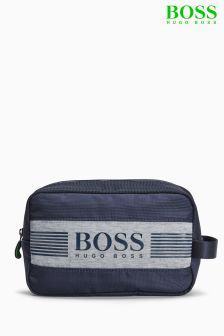Boss Green Navy Pixel Washbag