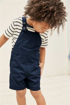 Short Leg Dungarees With Stripe Tee (3mths-6yrs)