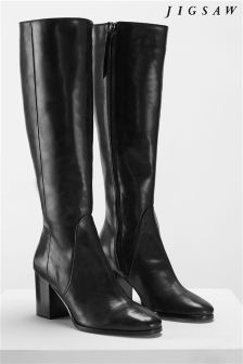 Jigsaw Black Tyler Knee High Smart Boot