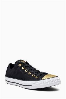 Converse Black Chuck Taylor All Star Metallic Toe Cap