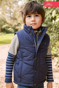 Little Joule Navy Padded Gilet