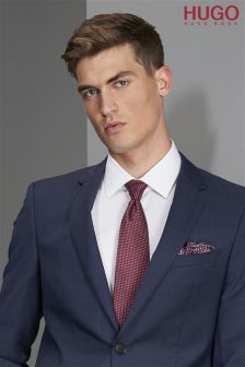 Hugo Tailoring Red Pattern Tie